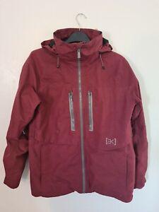 Burton Ak Burgundy Goretex Snowboard Jacket Medium AK 2L Stagger Jacket