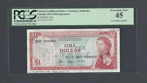 East Caribbean States One Dollar ND(1965)  P13fs Specimen Extremely Fine