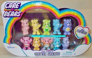 Care Bears Glitter Friends Collector Set Bedtime Harmony Bear Mini Figures READ!