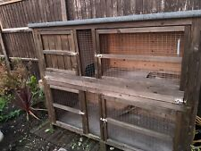 Wooden Rabbit or guinea pig hutch large two tier in good condition