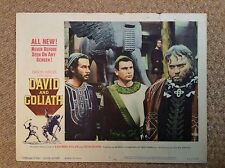 DAVID AND GOLIATH Original PEPLUM Lobby Card ORSON WELLES MASSIMO SERATO
