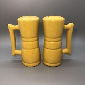 Frankoma Pottery Serving Dish Trinket Dish Sunflower Yellow Corn Cob Holder MidCentury