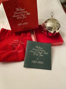 1995 NOS Wallace Silversmiths Silver Sleigh Bell!