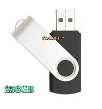 256GB USB 2.0 Flash Drive Disk Memory Pen Stick Thumb Storage Swivel Metal Black
