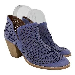 Jeffrey Campbell Rosalee Violet Booties~Anthropologie~Size 9~Leather