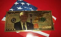 1 Gold Plated - US President Trump - $1,000 dollar - Fun Novelty Trump Banknote