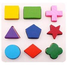 Puzzle en Bois Enfant Jeux éducatifs Motif Bloc Jouet Cadeau pour Bébé #B