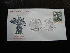 MADAGASCAR - enveloppe 13/5/73 - journee du timbre - yt n° 522 - (cy4) (E)