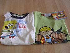 2 T-Shirt 's tamaño 116, Bob el constructor y Sponge Bob
