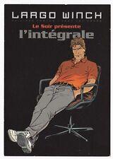 LARGO WINCH  L'INTEGRALE  carte postale publicitaire FRANCQ VAN HAMME 2010