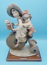 "11"" Giuseppe Armani Kids Riding Tricycle~Girl/Boy/Cat/Kit ten~Gulliver's World"