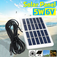 Portable Mini 5W 6V Solar Panel Energy Class A Polysilicon Outdoor Home+3M Cable