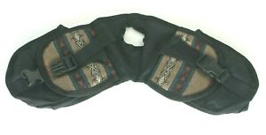 Abetta Brand Southwestern Style Brown Nylon Horn Bag 23406