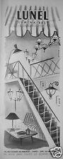 PUBLICITÉ 1955 LUNEL LUMINAIRES LAMPES LUSTRES LANTERNES - ADVERTISING