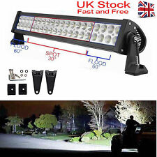 120W 21Inch LED Work Lights Bar Combo Vehicle Offroad Driving Lamps 4WD Bright