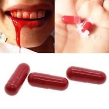 3 Blood Capsules Fake Gag Joke Prank Trick Horror Halloween Vampire Makeup 2018