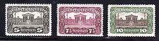1919 Austria Scott 223a, 224b, 225a Parliament Bldg. perf 11.5 x 12.5 set MH