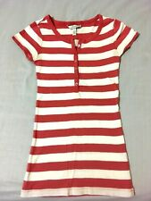 AEROPOSTALE Striped Long and Skinny HENLEY Shirt Top Girl SIZE S (7-8) Stretch