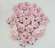 50 Pink Mixed Size Shape Mulberry Paper Flower Roses DIY Wedding Crafts A20-2
