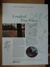 USA Commemorative Panel #652 2002 Apr 26 Longleaf Pine Forest #3611