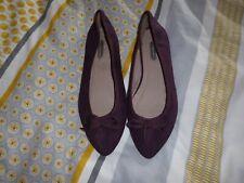 Ladies  Dorothy Perkins Purple Ballet Flats Slip on Summer Shoes.Size 5 uk