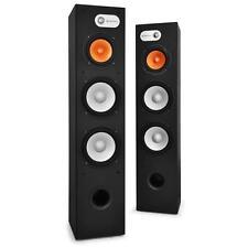 2x AUDIO HIFI HEIMKINO STAND LAUTSPRECHER SUBWOOFER 3-WEGE BASS REFLEX BOXEN SET