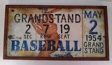 "Hobby Lobby Kim Lewis metal baseball wall hanging picture 19x10.25"""