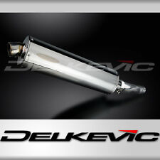 "Suzuki GSX-R600 18"" Stainless Steel Oval Muffler Exhaust Slip On 08 09 10"