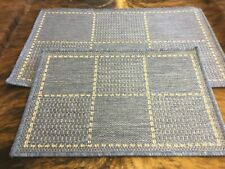 2 X Oriental Weavers Checked Flatweave Anti Slip door Mat 1x60x40cm & 1x50x80cm