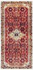 Hand Knotted Rust Tribal Runner Wool Nomadic Hamedan Oriental Rug 4.2 x 9.10