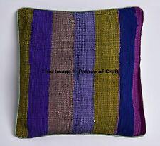 Cotton Indian Stripe Sofa Cushion Cover Ottoman Pillow Case Art Home Decor Throw