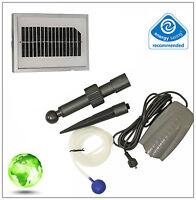Solar Powered Garden Pond Oxygenator Water Pump 1 Air Stone Oxygen Aerator