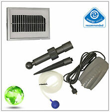 Solar Powered Garden Pond Oxygenator Water Pump 1 Air Stone Oxygen Aerator