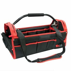 """450mm TOOL CADDY BAG HEAVY DUTY BASE HOLDALL STORAGE HANDLE 18"""" CARRY CASE"""