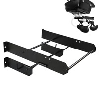 Black Tour Pak Pack Accessory Motor Storage Rack Fits Harley Touring Wall Mount