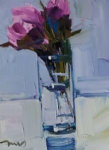 JOSE TRUJILLO Oil Painting IMPRESSIONISM Collectible STILL LIFE 9X12 MODERN ART