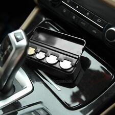 Car Interior Coin Case Auto Storage Box Holder Container Organizer Black