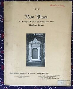 """1918 Property particulars, auction of """"New Place' Lingfield, Surrey"""