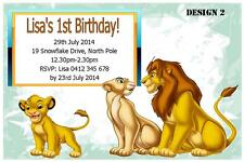 10 x THE LION KING PERSONALISED BIRTHDAY INVITATIONS INVITES + FREE MAGNETS