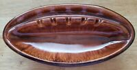 Vintage Mid-Century Modern (MCM) House Gregory Ashtray 1960's Brown Drip Glaze