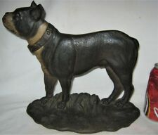 """Best!"" Antique Bradley Hubbard Cast Iron Boston Terrier Dog Home Doorstop B&H"