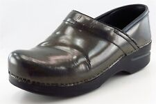 Dansko Clogs Green Patent Leather Women Shoes Size 38 Medium (B, M)