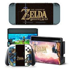 Nintendo Switch Zelda Console & Joy-Con Controller Decal Vinyl Skin Wrap Sticker
