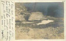 Bedford Ohio Creek Rock 1909 RPPC Photo Postcard 5995