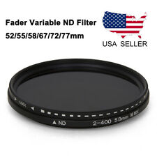 Camera Lens Fader Variable ND Filter Adjustable ND2 To ND400 52/55/58/67/72/77mm