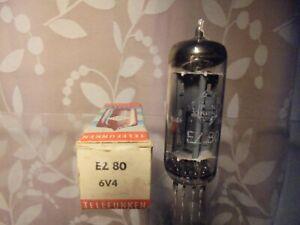 TELEFUNKEN EZ80 GERMAN OLD STOCK BOXED TESTED RECTIFIER VINTAGE VALVE