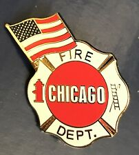 IL Chicago Fire Department CFD Fire EMT EMS Lapel Pin