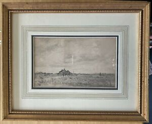 A pair of original drawings by Albert Sterner, Landscapes, conservation framed