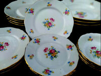 Set for 4  KOENINGSZELT Dinner Set, Flower accent Gold Trimmed  Made In Poland