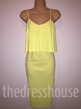 BNWT Definitions Yellow  Cami Bodycon Dress Size 20 Stretchy RRP £40